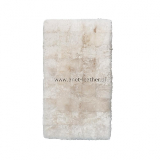 NATURAL DESIGNER RUG WHITE SHORN