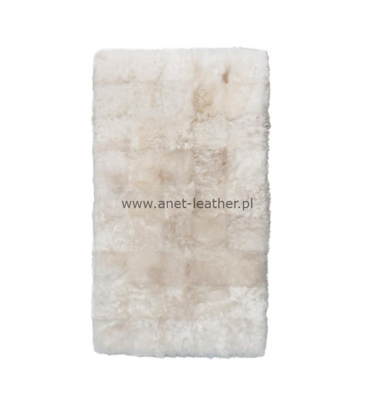 NATURAL DESIGNER RUG WHITE SHORN
