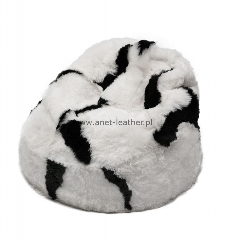 NATURAL SPOTTED WHITE/BLACK SHORN